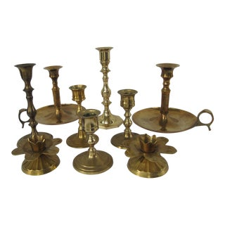 Brass Candle Holders - Set of 9