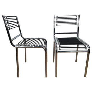 René Herbst Style Side Chairs - a Pair