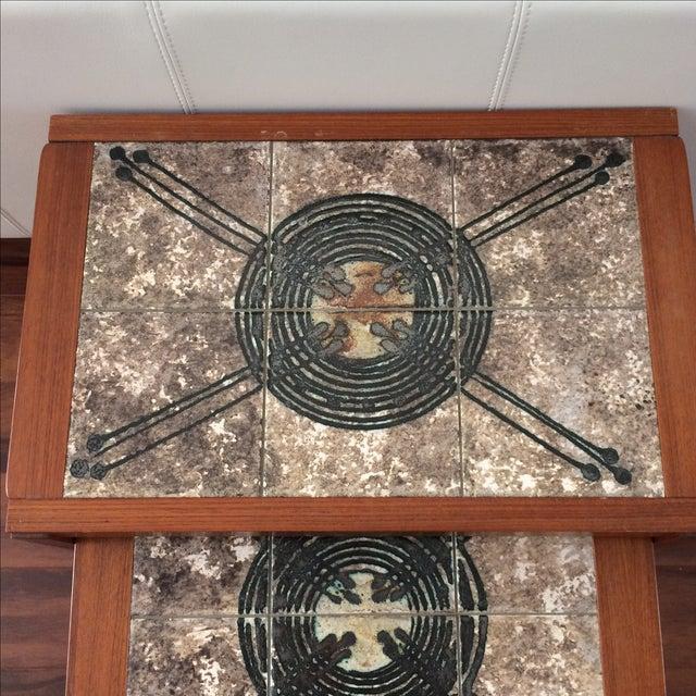 Danish Modern Gangso Mobler Tile Nesting Tables - Image 4 of 8