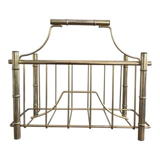 Vintage Gold Metal Magazine Holder