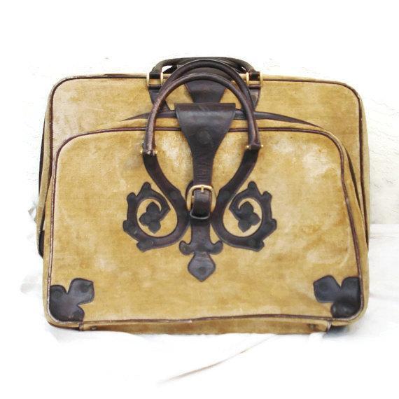 Saks Fifth Avenue Vintage Italian Suitcases - Pair - Image 2 of 6