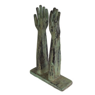 French Wood Glove Molds - A Pair