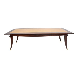 Mexican Modernist Mahogany Goatskin Dining Table