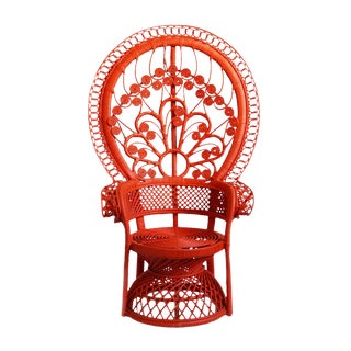 Tomato Orange Peacock Chair