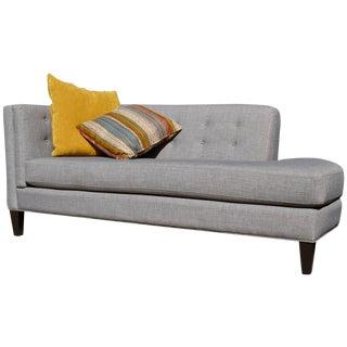 Modern Grey Chaise Lounge