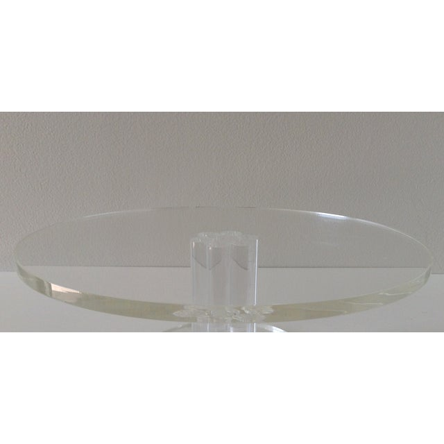 Vintage Lucite Round Footed Cake Stand - Image 4 of 5