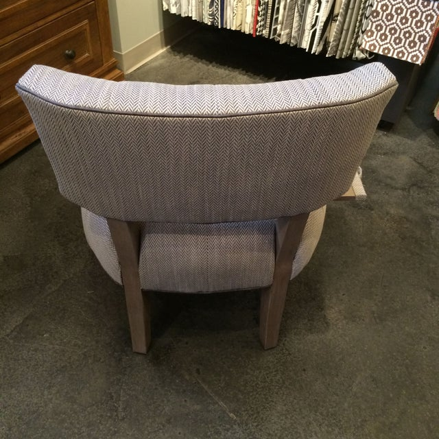 Image of 1950s Slipper Chair with Drink Tray