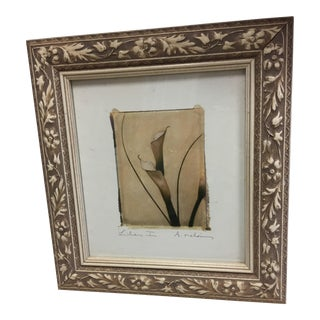 Framed Art Depiction of Lilies