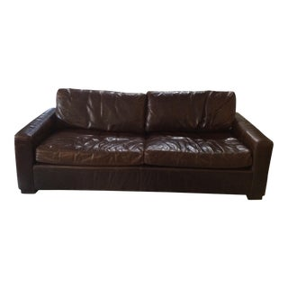 Restoration Hardware Leather Queen Sleeper Sofa