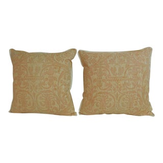"Pair of Fortuny ""uccelli"" Printed Decorative Pillows"