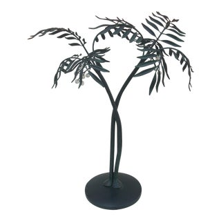 Metal Palm Tree Sculpture
