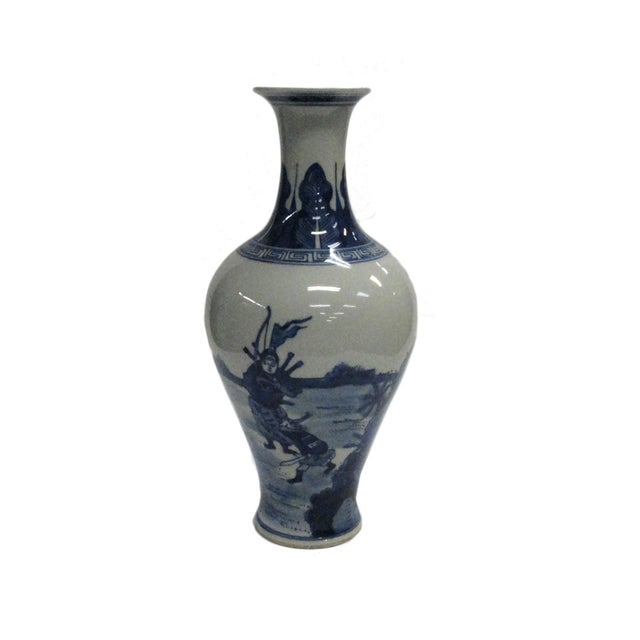 Chinese Blue White Porcelain Scenery Vase - Image 2 of 5
