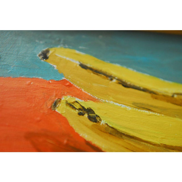 Andy Warhol Style Banana Oil Painting - Image 7 of 9