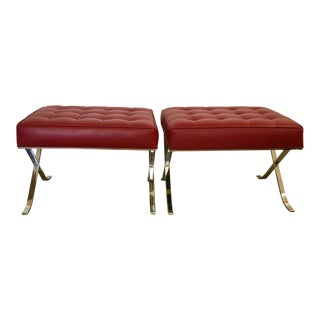 Barcelona Style Benches - A Pair