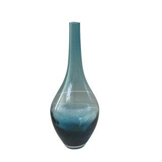 Long Neck Blue Glass Vase