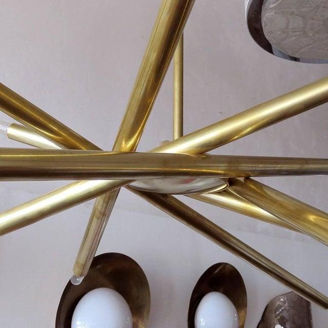 Raw Brass & Spiral Chandelier - Image 6 of 11