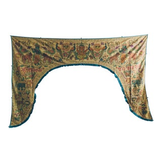 Vintage Brown Handmade Indian Toran Door Valance