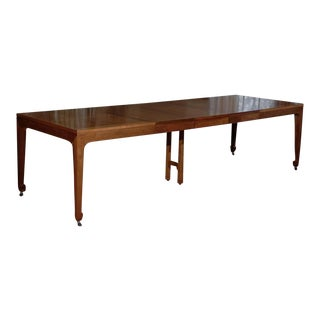 Breathtaking Vintage Baker Extension Dining Table in Walnut