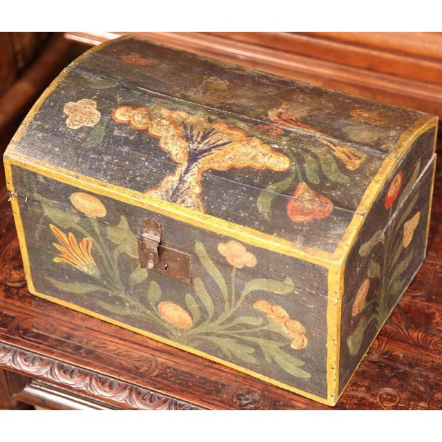 18th Century French Hand Painted Floral Wedding Box - Image 6 of 9