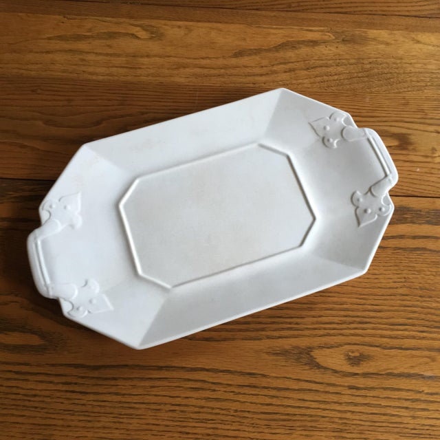 Crackled White Serving Tray - Image 2 of 5