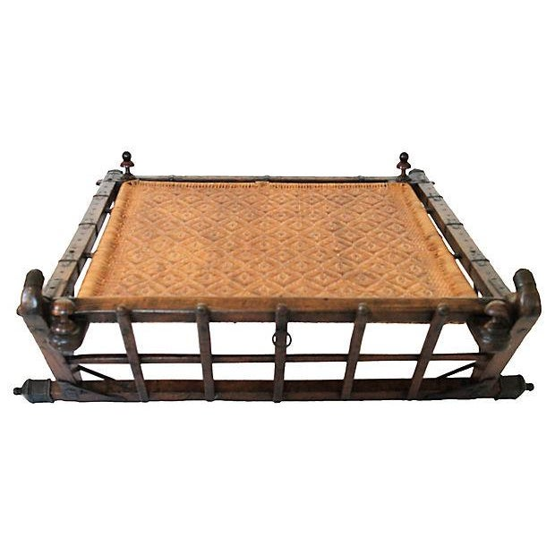 19th c rickshaw coffee table chairish for Table th width ignored