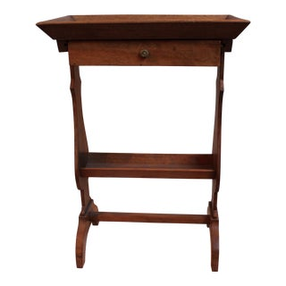Antique Olive Wood Work Side Table