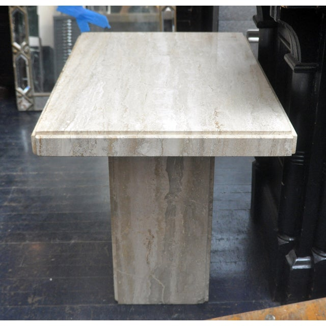 Travertine Coffee Table - Image 2 of 6
