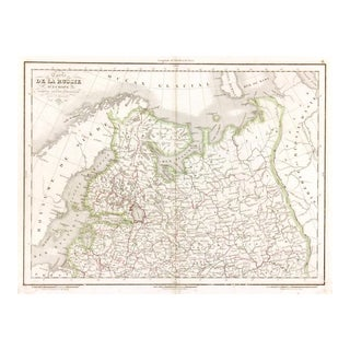 Antique European Russia Map, 1836