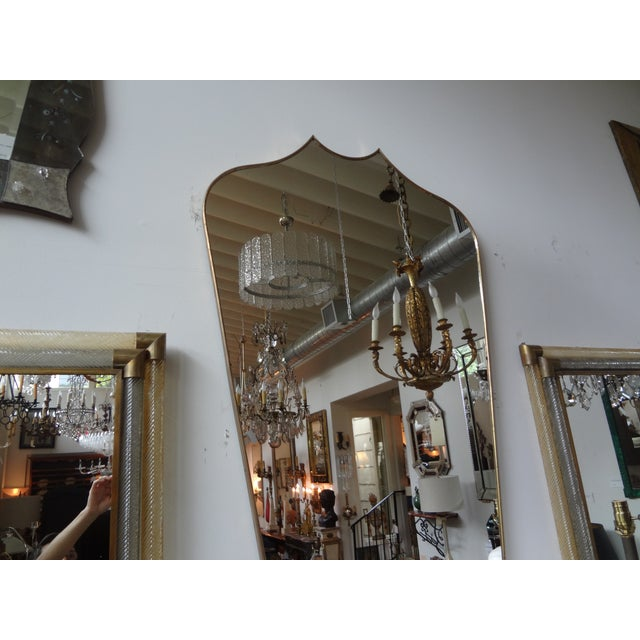 Italian Gio Ponti Inspired Brass Mirror - Image 3 of 7