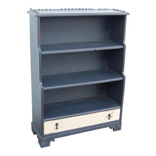 Distressed Gray Painted Bookcase