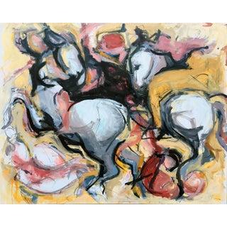 """The Lost Leonardo"" Acrylic & Charcoal Painting"