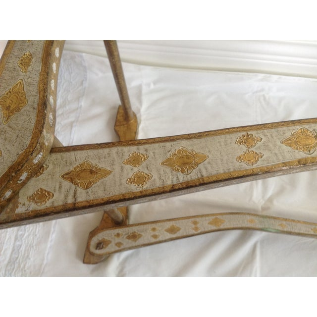 Gilt Italian Florentine Standing Towel Rack - Image 9 of 9