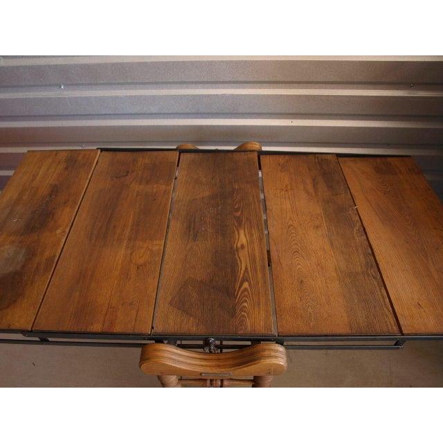 Yesbera Antique Baker Tilt Table/Shelving Unit - Image 6 of 8