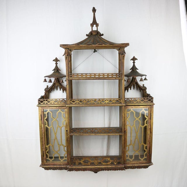 Chinese Chippendale Hanging Pagoda Wall Shelf - Image 2 of 11