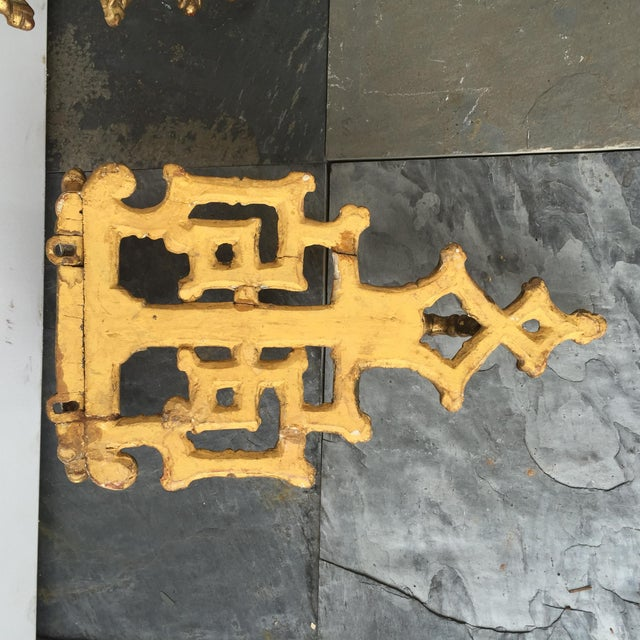 19th C. Giltwood Faux Bamboo Wall Brackets - A Pair - Image 3 of 6