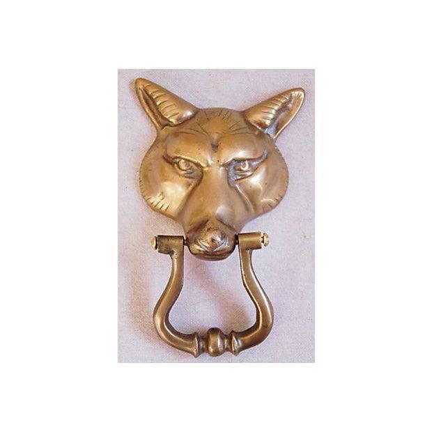 Vintage 1960s English Brass Fox Door Knocker - Image 2 of 7