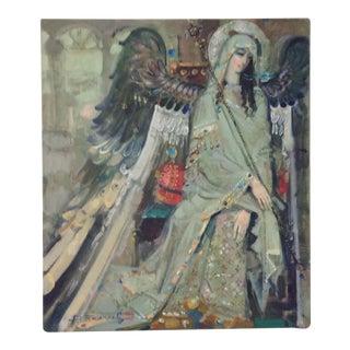 Byzantine Angel Oil Painting by Roman Bolkov
