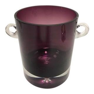 Italian Amethyst Art Glass Ice Bucket