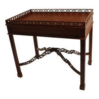 Kittinger Chippendale Style Mahogany Tea Table