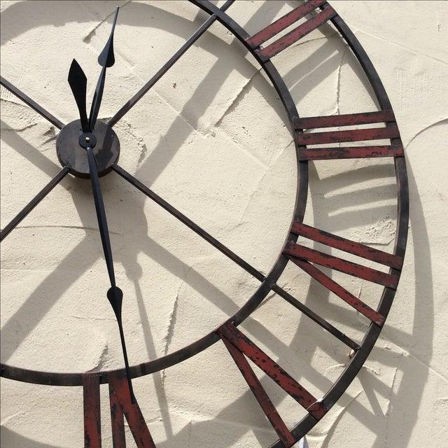 Large Metal Wall Clock - Image 4 of 5