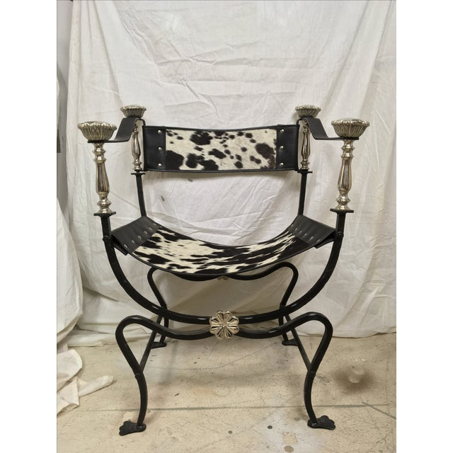 Italian Campaign Style Chair - Image 2 of 6