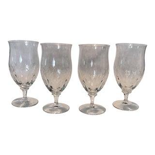Crystal Etched Goblets - Set of 4