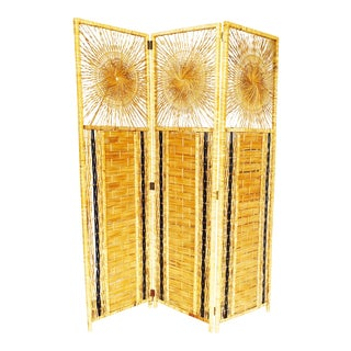 Vintage Rattan Screen/Room Divider