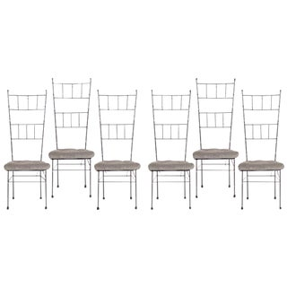 Black Faux Bamboo Dining Chairs - Set of 6