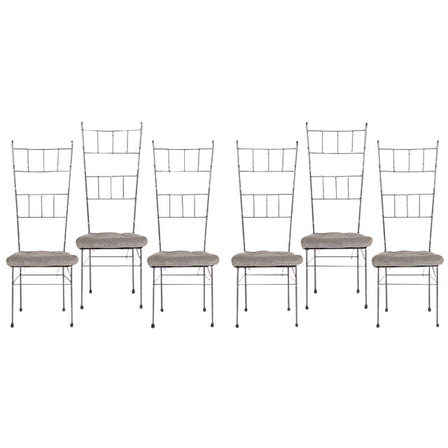 Black Faux Bamboo Dining Chairs - Set of 6 - Image 1 of 5