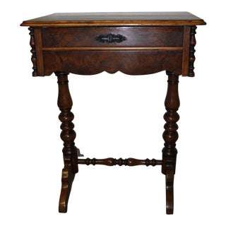 Victorian Walnut Sewing Table
