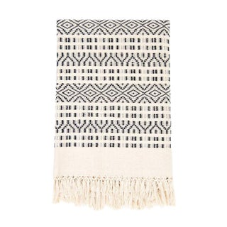 Black & Cream Chiapas Throw