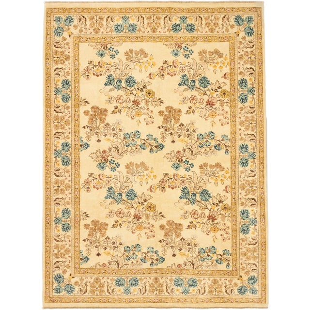 """Hand-Knotted Chobi Twisted Indian Rug - 9'1"""" X 12' - Image 1 of 2"""