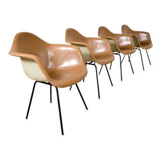 Mid Century Eames for Herman Miller Fiberglass Shell Chairs - Set of 4