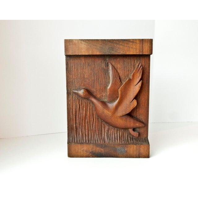 Hand Carved Wood Duck Wall Hanging - Image 2 of 6